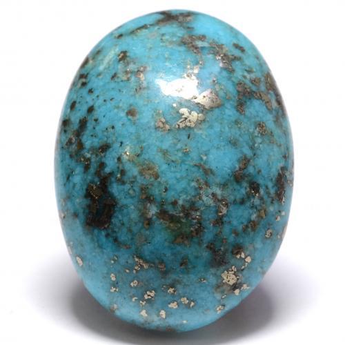 25.27 ct كابوشون بيضاوى ازرق مخضر فيروز حجر كريم 22.09 mm x 15.8 mm (معرف المنتج: 536729)